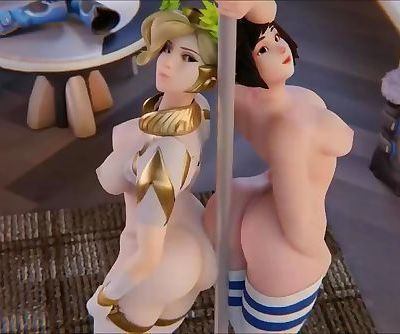 Overwatch Mercy and Mei..